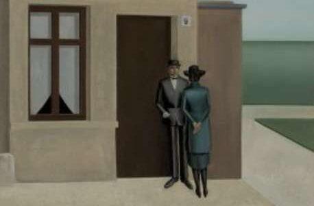 Anton Räderscheidt Haus Nr. 9, 1921 Öl auf Holz, 66×54,4 cm