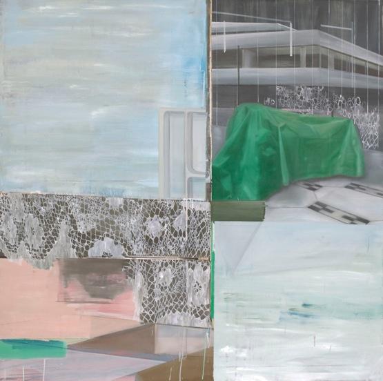 parkhaus, 2013, 140 x 140 cm, Öl auf Leinwand