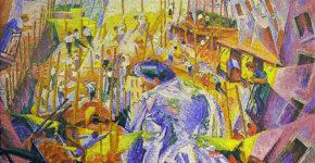 La strada entra nella casa Umberto Boccioni, 1911 Öl auf Leinwand 100 × 100,6 cm Sprengel Museum Hannover