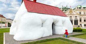 Erwin Wurm, Fat House, 2003 Foto: Johannes Stoll, © Belvedere, Vienna