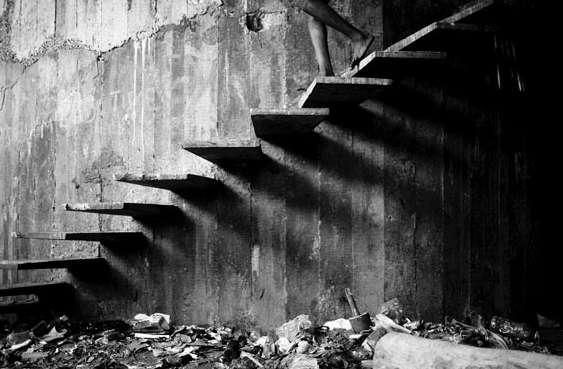 """Mário Macilau: """"Stairs of Shadows"""" aus der Serie """"Growing in Darknes"""", 2012-2015 Digital Pigment Print Ed. 2 + 2 AP"""