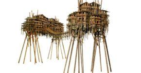 Fernando Suarez, Aldeas Transversales – Acero corten , acero corrugado y hierro. 3,30 m longitud x 1,90 m anchura x 1.60 m altura