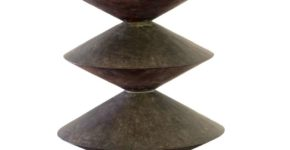 Christian Abraham David, Pagode, Bronze, 2003 (Sammlung OEW Ravensburg)