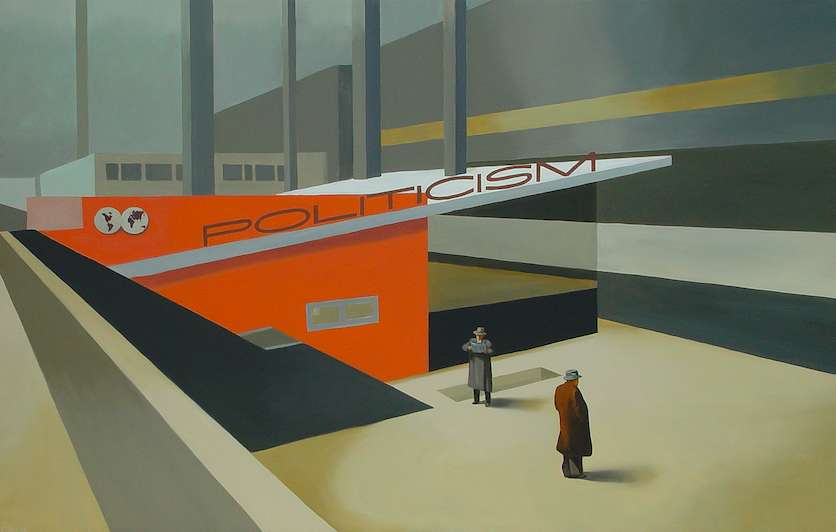 Politicism, 2005. Oil on canvas. 150 x 225 cm