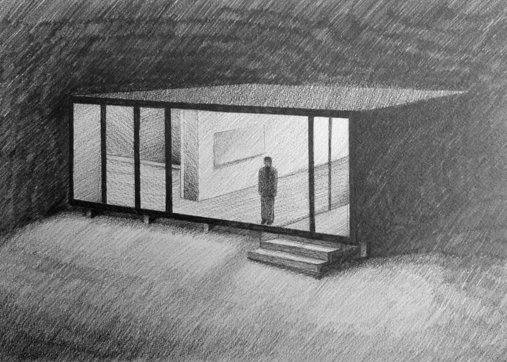Casa Part of the serie for Walden Project. Graphite on paper. 21x29'7 cm. 2014.