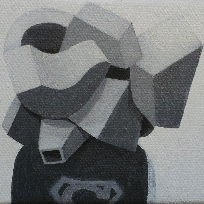 Superman Oil on canvas. 10'5x8 cm. 2016.
