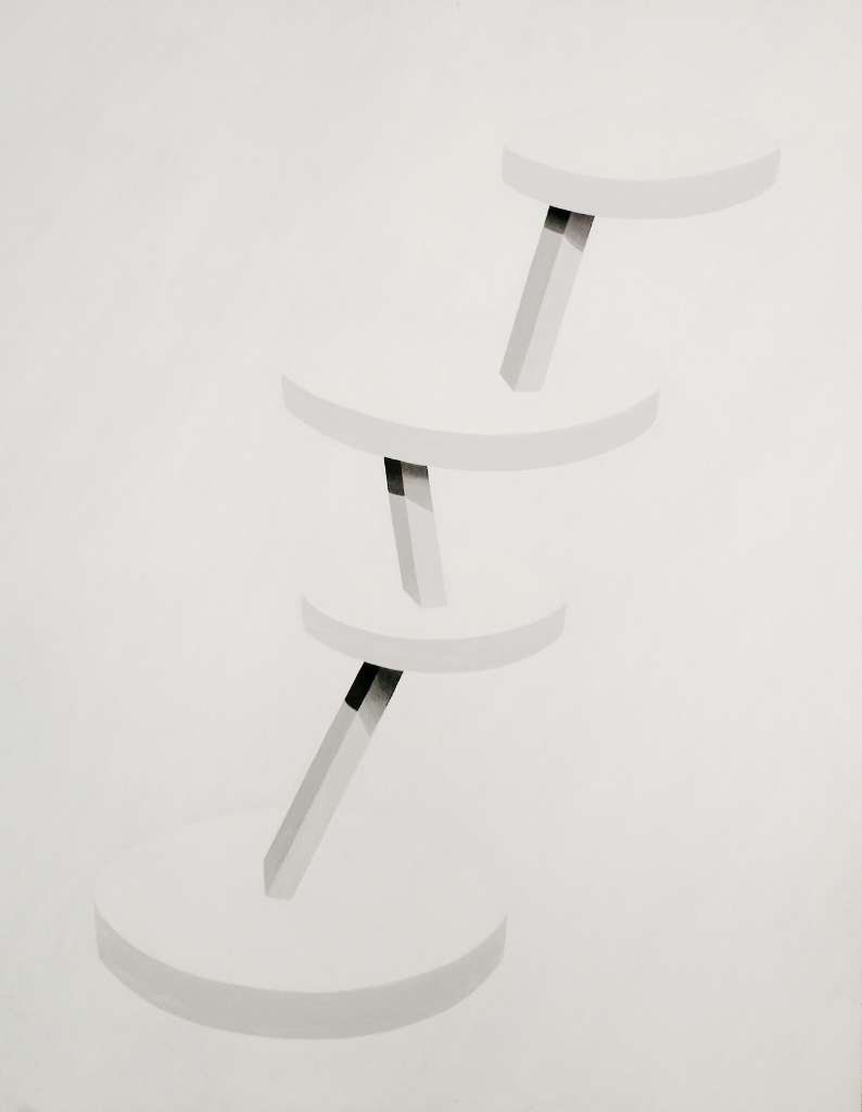 Plataformas inestables Oil on canvas. 146x116 cm. 2013