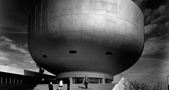 Sigrid Neubert: Karl Schwanzer, BMW-Hauptverwaltung, München, Museum, 1972 © Staatliche Museen zu Berlin, Kunstbibliothek / Sigrid Neubert