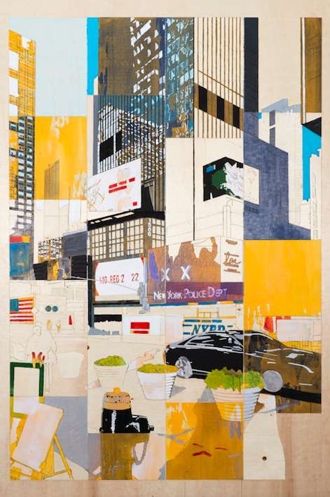 NY Times Square - 2016 - 238x157,5x1 - Pigment on Wood / Foto: Nikolaus Netzer