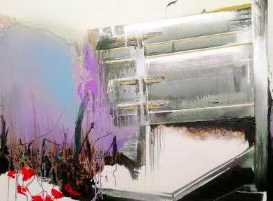 The End, 2018, Acryl, Öl auf Leinwand, 90 x 120 cm