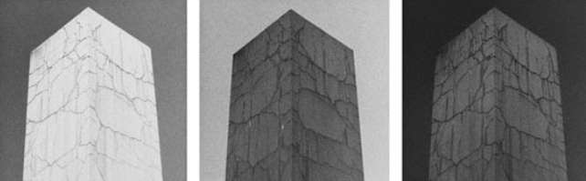 "Yannig Hedel: ""Monolithe, 1-2-3"", Vintage silver gelatin print (1986), 29,1 x 20,7 cm each, Edition #5/12"